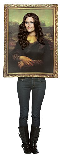 UHC Women's Mona Lisa Tunic Funny Theme Party Fancy Dress Halloween Costume, OS (Funny Movie Halloween Costumes)