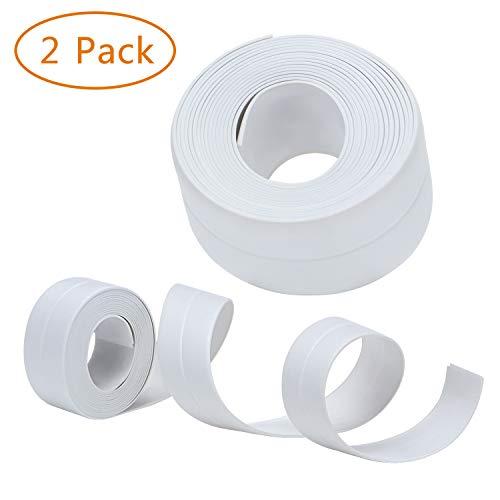 RONRI Bathtub Caulk Strip Waterproof PE Strong Self Adhesive Flexible Peel and Stick Caulking Tape Sealing Tape Sealer for Wall Bathtub Corner Kitchen Bathroom Shower Sink countertop 2PACK 11 x 0.13ft