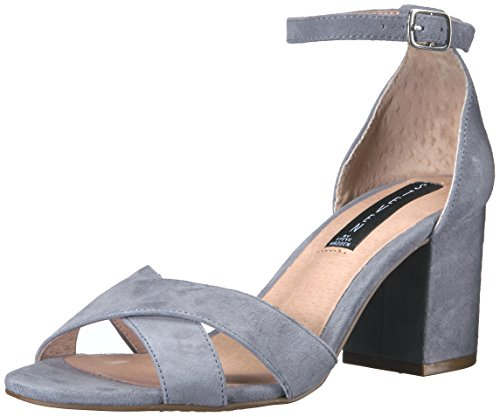 Sandals Toe Open Steven (STEVEN by Steve Madden Women's Voomme Dress Sandal, Light Blue, 6.5 M US)