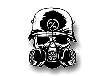 METAL MULISHA Death Squad 625quot Decal FMX Race Army Helmet Hoodie Skull Sticker White