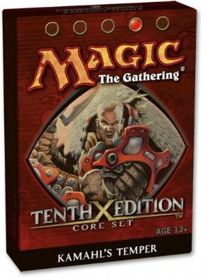 Magic the Gathering: Core Set - Tenth - 10th - Edition Theme Deck - Kamahl's Temper (Red)