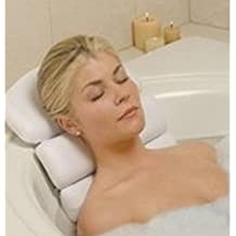 Stock Your Home Luxury Spa Bath Pillow Mat Features 3 Panel, Nonslip Jacuzzi Pillow with Removable Suction Cups and Extra Thick Foam Cushion Providing Head, Neck & Back Support for Ultimate Relaxation