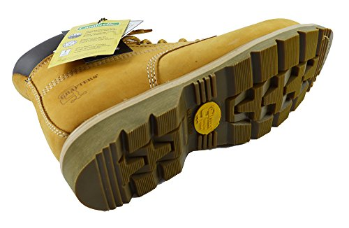 Grafters 7 Eye Steel Mens Safety Boots Honey