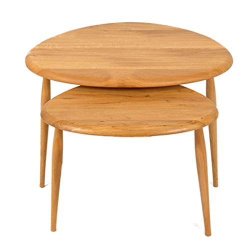 Mesa auxiliar mesas de centro Juego de 2 mesas de anidacion, muebles modernos de interior Mesas de centro triangulares Mesa de centro for espacios pequenos en la sala de estar, dormitorio, sala de est