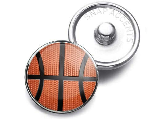 Basketball Snap Jewelry 18MM Charm Button ()