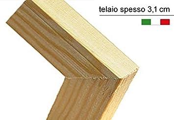 135,6 x 176 x 3,1cm Alta qualit/à 3 Pannelli Separ/è Paravento bifacciale Librerie in Tela di Cotone e Legno