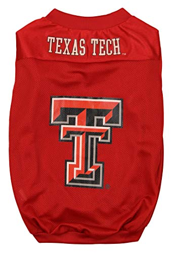 Sporty K9 Collegiate Texas Tech Red Raiders Football Dog Jersey, X-Small