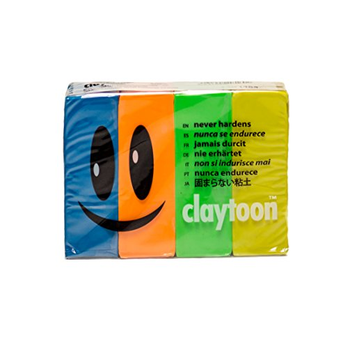 CEC modeling clay claytoon 1Pound 4 color set mutant