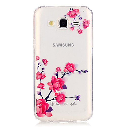 XiaoXiMi Funda de Silicona para Samsung Galaxy J5 Carcasa Transparente Soft Silicone Cover Clear Case Funda Protectora Carcasa Blanda Caso Suave Flexible Caja Delgado Ligero Casco Anti Rasguños Anti C Flores que Florecen en la Profusión