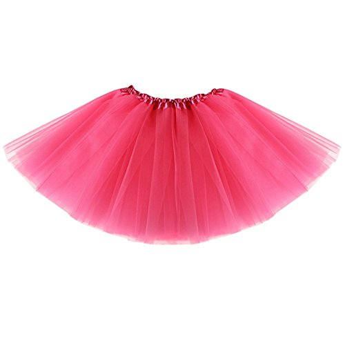 [Evelin LEE Baby Girls Dance Tutu Princess Skirt for Dress Up Fairy Costumes (Dark Pink)] (Pictures Of Jazz Dance Costumes)
