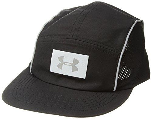 Under Armour Women's Packable Run Cap, Black/Black, One Size (Cap Under Running Armour)