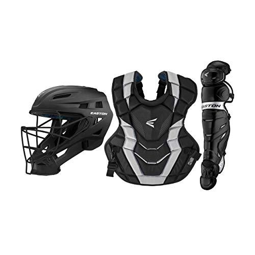 Gear Custom (Easton Elite x Custom Catcher Box Set Elite-x Custom Catchers Set BK/Sl, Black/Silver, Youth)
