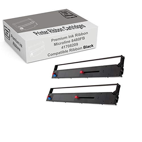 MARS POS Ribbons Compatible with Okidata Microline 8480 Ribbon Oki 41708209 ML8480 (Black, 2 Pack)