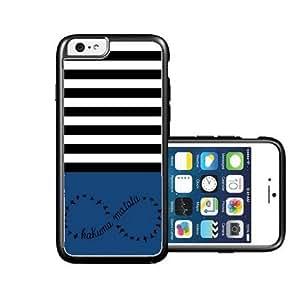 RCGrafix Brand hakuna-matata Black Stripes & Grey black iPhone 6 Case - Fits NEW Apple iPhone 6