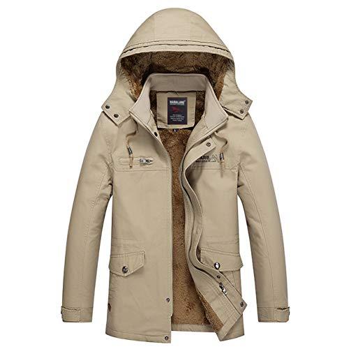 Men's Outdoor Parka Zipeer Warm Thicken Winter Cotton Jacket Coat(2XL,Dark -