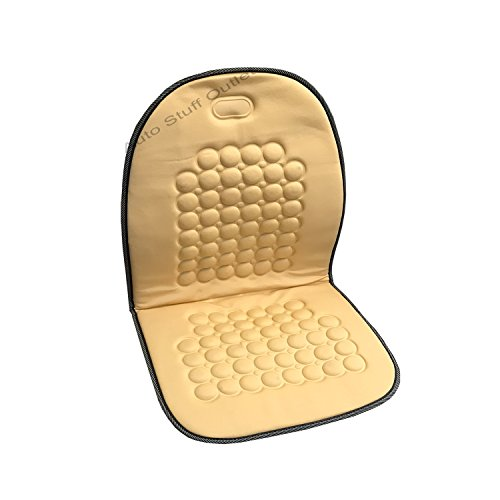 Magnetic Therapy Massage Car Seat Cushion (Cream Beige, 1 Pc)