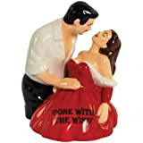Westland Giftware Gone with the Wind Rhett and Scarlett Dip 3-3/4-Inch Magnetic Salt and Pepper Shakers