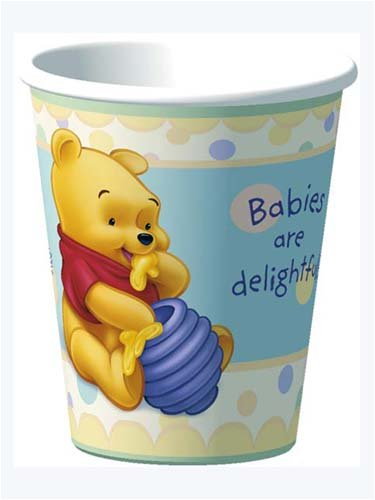 8ct Winnie the Pooh Baby Days Paper Cups