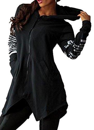 Zipper Long Sleeve Sweatshirts - 8