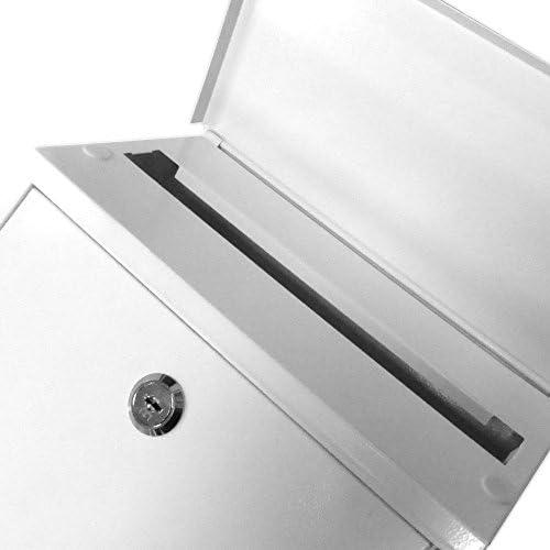 Generic Metal acero buz/ón de Letterbox postbox buz/ón para exteriores con cerradura