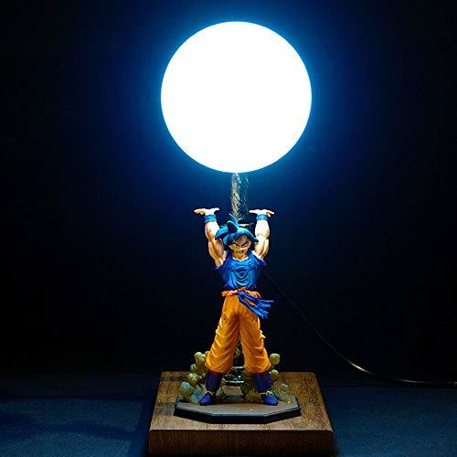 COSMOSS Dragon Ball Z Spirit Bomb Table LED Light Night Lamps for Bedroom Study Desk Goku Night Light 3D Room Décor [Not an Official Dragon Ball Product] (Blue Shirt Goku Spirit Bomb)
