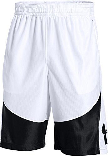 (Under Armour Men's Mo' Money Basketball Shorts, White /Black, Large )
