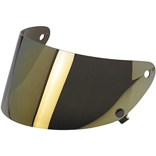 Biltwell Gringo S Flat Shield Anti Fog - Gold - Gold Shield