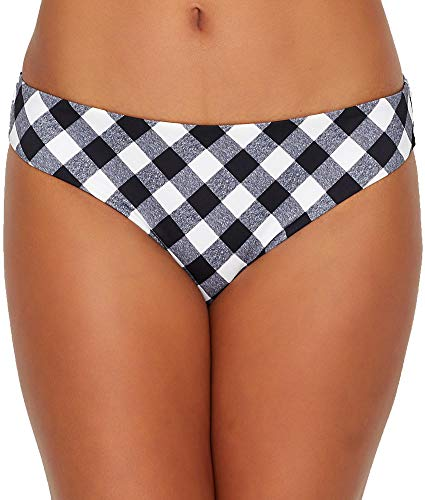 Freya Totally Check Bikini Bottom, M, Monochrome