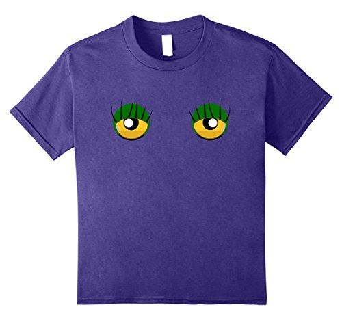 Cute Nerdy Girl Costumes Ideas (Kids Emoji Monster Eyelashes Shirt Funny Yellow Face Costume Gift 8 Purple)
