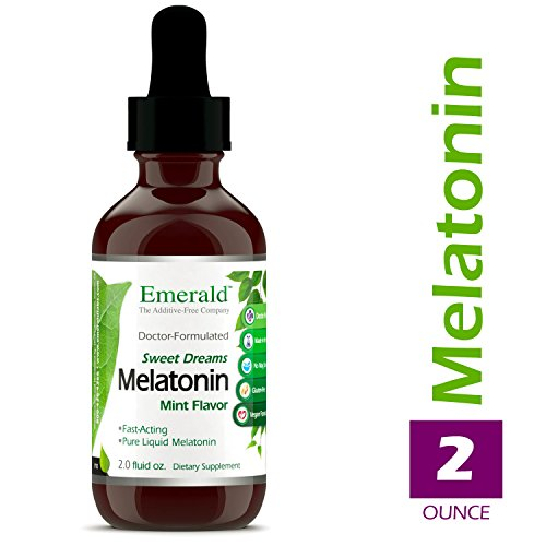 Liquid Melatonin - Promotes Relaxation & Healthy Sleep Patterns, More Energy, Better Overall Health - Mint Flavor - Emerald Laboratories (Sweet Dreams) - 2 oz