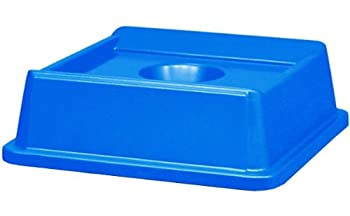 Rubbermaid Commercial Untouchable Recycle Bin Top, Bottles and Cans, Blue, FG279100DBLUE