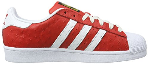 Ftwr Met adidas Scarpe Gold White da Red Uomo Superstar Skateboard Rosso Animal g1F7ag8