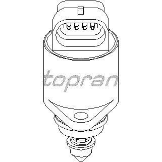 TOPRAN 206 169 Leerlaufregelventil Luftversorgung