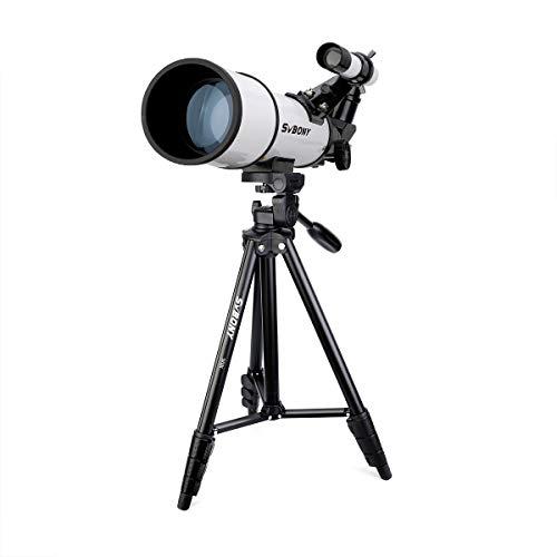 SVBONY SV501 Telescope, Fully Coated Glass Optical Telescope, Telescope for Adults, with 54 inch Aluminum Alloy Tripod
