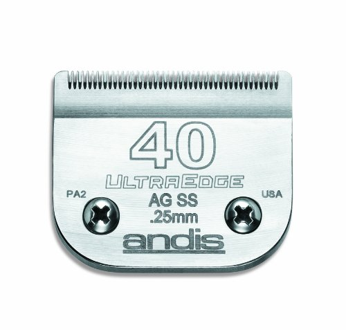 - Andis Carbon-Infused Steel UltraEdge Dog Clipper Blade, Size-40, 1/100-Inch Cut Length (64084)