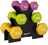 AmazonBasics 32 Pounds Neoprene Workout Dumbbell