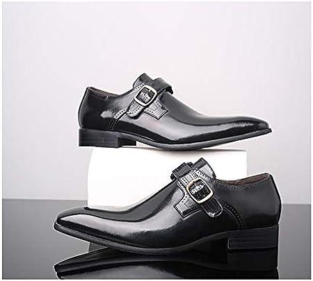 La patente de cuero del hombre maduro en punta del dedo del pie zapatos de vestir del smoking de boda abastecedor Zapatos zapatos de negocios elegante traje