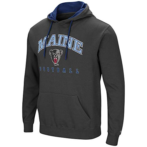 Colosseum Maine Black Bears Mens Playbook 2 Hooded Pullover-Large ()