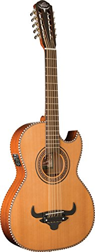 Oscar Schmidt OH22SE Thinline Bajo Quinto with Bag, Natural Finish