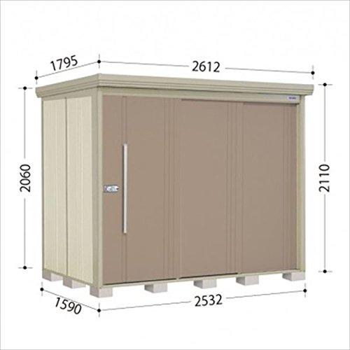 タクボ物置 ND/ストックマン 側面棚 ND-2515Y 一般型 標準屋根 『屋外用中型大型物置』 カーボンブラウン B018CABM4C