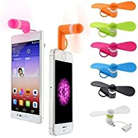 JEWELS FASHION Portable Mini Fan – Colorful - and Powerful 2-in-1 Fans for Phone/Smartphone/Tablet - Black/Pink/Blue/Green/White/Orange - Summer 2018 Phone Accessories Compatible with iPhone/ (White)