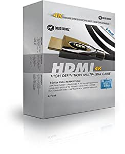 HDMI Cable 6 ft (2 Pack) - 2.0 (4K) Capable Gold Plated High-Speed Ethernet, HDTV cables, Video games, 4K 2160p, HD 1080p, 3D - Xbox, video games, DVD player, Playstation, Apple TV, PS live, Macbook