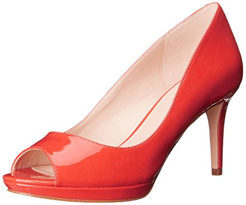 Nine West Women's Gelabelle Synthetic Dress Pump, Red Orange Synthetic, 38.5 B(M) EU/6.5 B(M) UK