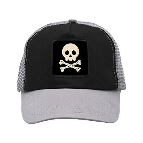 Yu2Ye Unisex Baseball Mesh Hat,Fashion Cool Pirate Skull Adjustable Trucker Hat/Cap (Fashion Pirate)