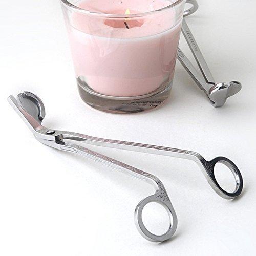 Ruikey Kerzendochtschneider Kerzenschneider Schere Werkzeug silber aus Edelstahl einfaches Kerzenwerkzeug