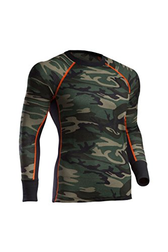 Indera Men's Woodland Camo Thermal Underwear Top, 2X-Large