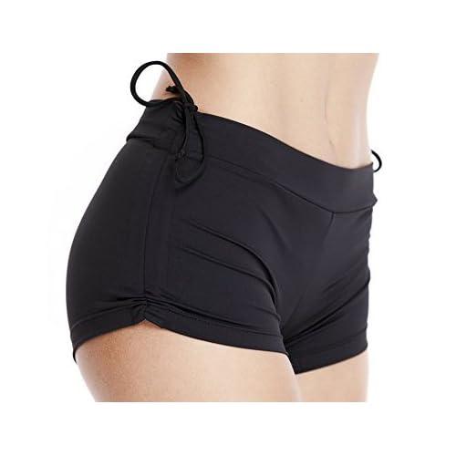 60d291aa14 Platinum Sun Women's Swim Brief with Adjustable Ties, Mini Short ...