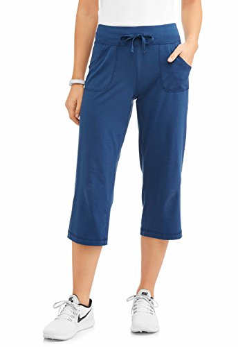 Athletic Works Women's Active Performance Relaxed Fit Knit Capri Pants (XL, (Fit Capri)