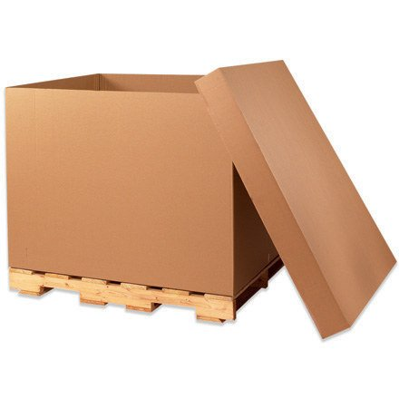 Aviditi GL363636TW Triple Wall Gaylord Bottoms Corrugated Box, 36'' Length x 36'' Width x 36'' Height, Kraft (Bundle of 5)