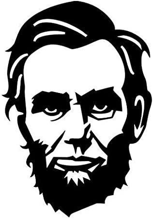 Abraham Lincoln Vinyl Decal Bumper Wall Laptop Window Sticker 5